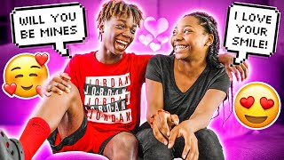 """MY 13 YEARS OF AGE SIBLING DARION TOLD HIS CRUSH JANELLE """"I LIKE YOU"""" TO SEE HOW SHE RESPONDS!!  