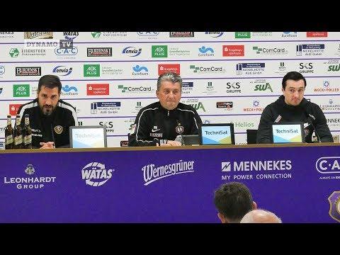 27. Spieltag   AUE - SGD   Pressekonferenz nach dem Spiel