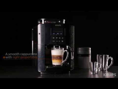 Krups Arabica Digital Bean to Cup Machine - How to make a Cappuccino