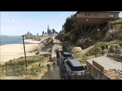 Grand Theft Auto 5 - Truck - Car Trailer Gameplay [HD]