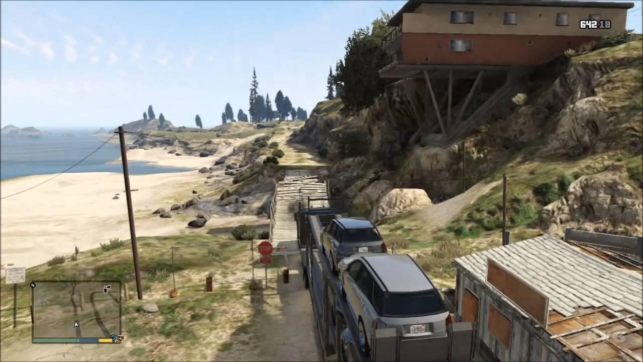 Grand Theft Auto 5 - Truck - Car Trailer Gameplay [HD ...