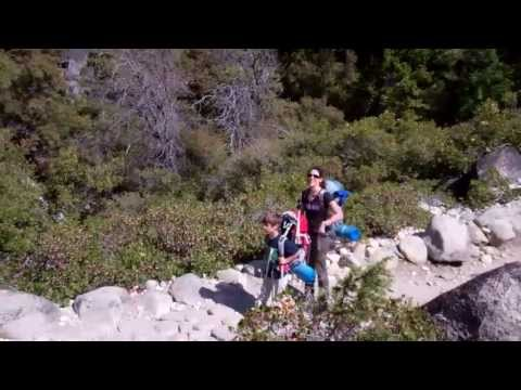 Backpacking The Mist Trail to Little Yosemite Valley with kids