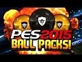MY FIRST PES BALL PACK OPENING! Pro Evolution Soccer 2015