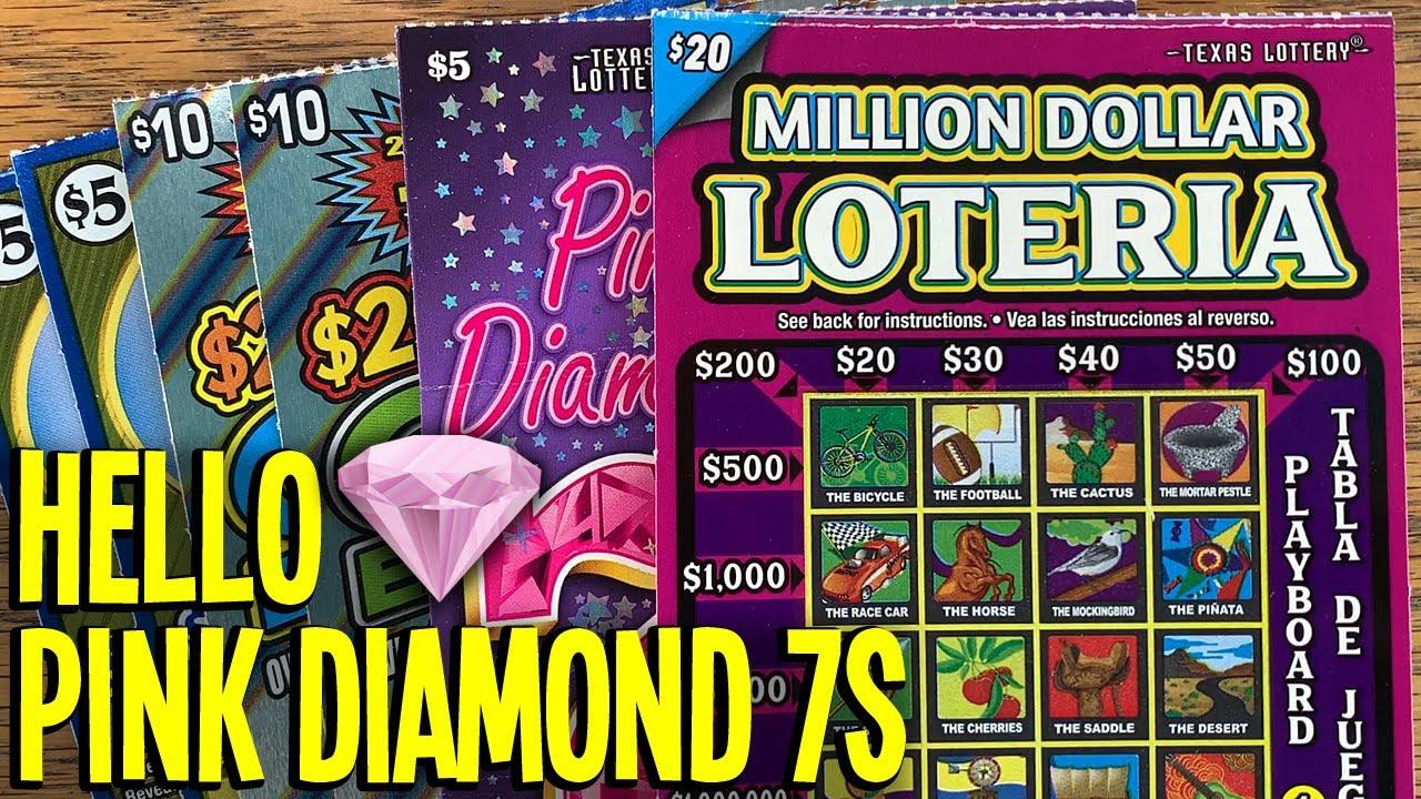 HELLO Pink Diamond 7s! 💎 $100/TICKETS 10X Pink Diamond 7s + $20 Million Dollar Loteria! 💵 TX Lottery