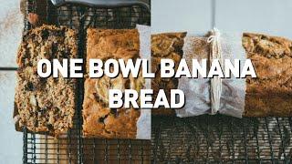One Bowl Banana Bread // Vegan   Gf   Oil Free   Rsf