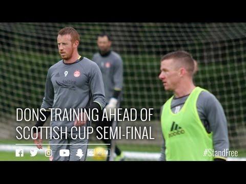 Scottish Cup semi-final build up   Thursday's training session