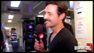 """Backstage at """"Evita"""" with Max von Essen"""