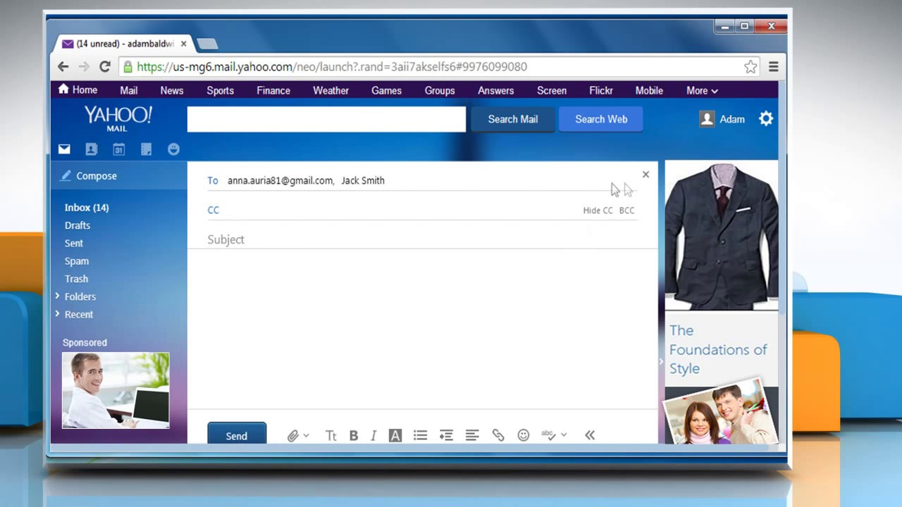 How to Compose and Send Message in Yahoo!® Mail