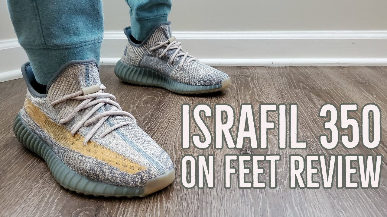 "Adidas Yeezy Boost 350 v2 ""Israfil"" On Feet Review (FZ5421)"