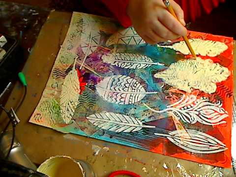 Mixed Media for beginners PT 4- Adding Molding Paste