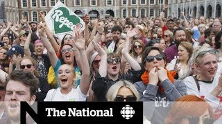 Irish women celebrate after abortion referendum