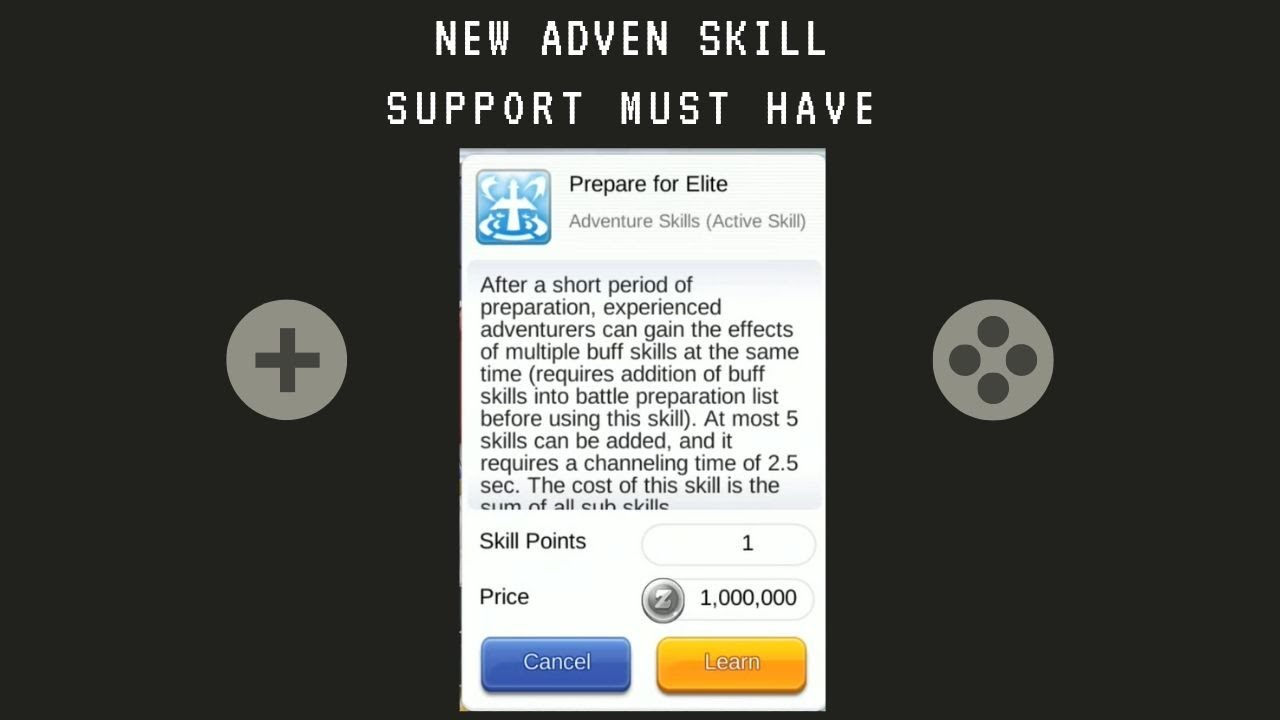 Support Must Have! New Adven Skill Preparation For Elite Ragnarok Mobile  Eternal Love