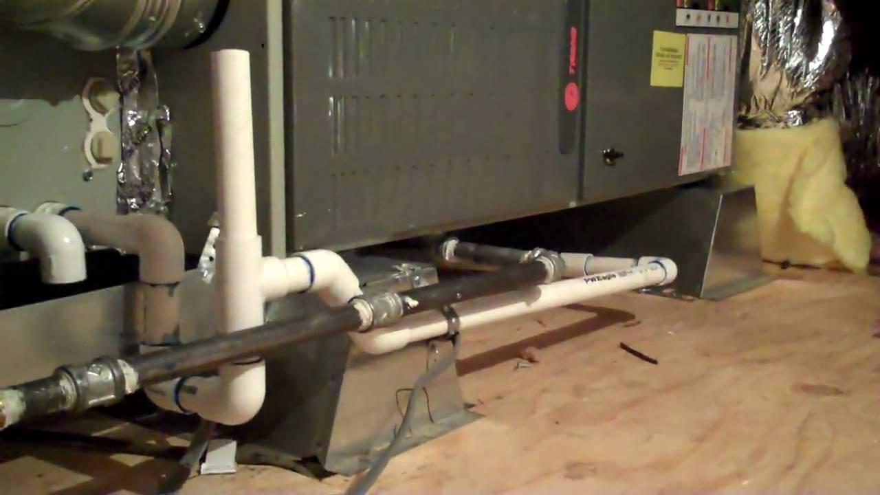 Horizontal Heater Furnace Installation - YouTube