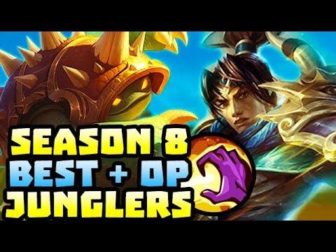 BEST & OP JUNGLERS IN PRESEASON 8 - League of Legends thumbnail