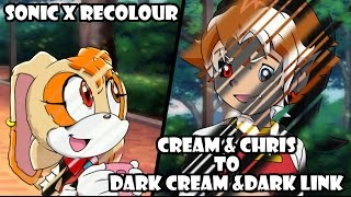 Sonic X Recolor: Cream and Chris to Dark Cream and Dark Link