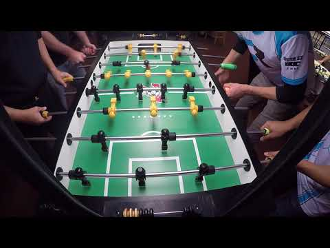 Chase Pennell and Mike Billirakis vs Richard Shepard and Gary Conley Halloween Foosball Open 2017
