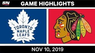NHL Highlights   Maple Leafs vs. Blackhawks – Nov. 10, 2019