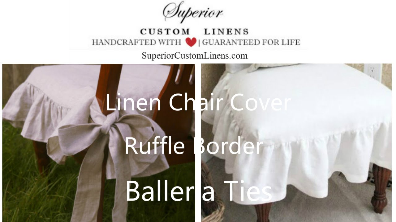 Chair Slipcover With Ballerina Sash Ties, Inspired By Cottage Country    YouTube