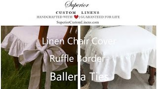 Chair Slipcover with Ballerina sash ties, inspired by Cottage Country