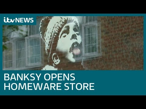 Banksy opens Croydon store after card company legal dispute | ITV News