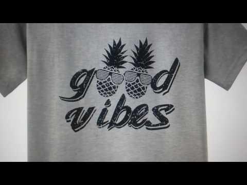 Digital T-Shirt Shop - Good Vibes T-Shirt - Pinrapple in Sunglasses