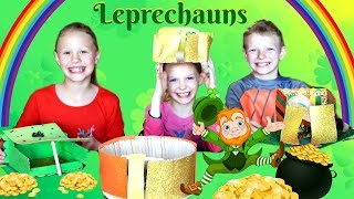 St. Patrick's Day Leprechaun Traps and Leprechauns