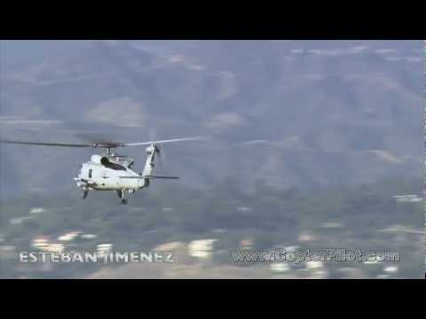 Sikorsky SH-60 Seahawk Helicopter over Los Angeles. HD