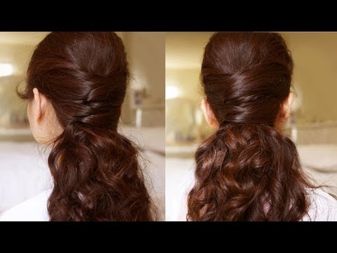 Elegance Half Updo Hair Tutorial YouTube
