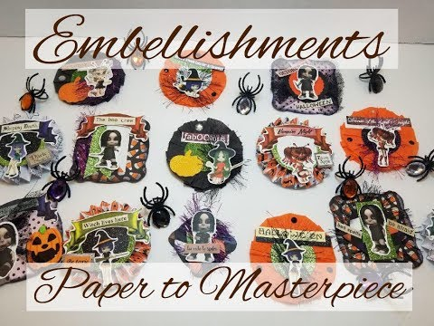 How to - Embellishments without a  paper punch or dies - paper to Masterpiece