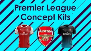 Speed Art - Premier League Concept Kits  1 - Arsenal by Dan B Design ac78a9059ccd2
