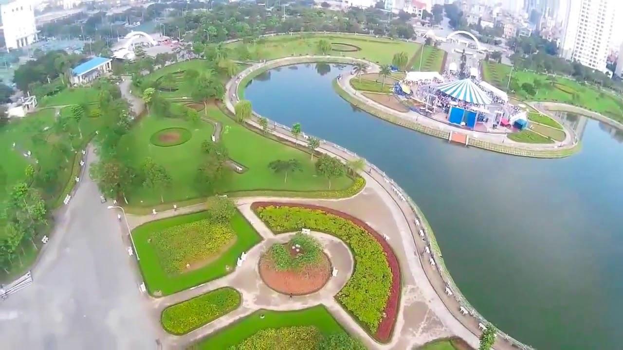 Chung cư Golden Park Tower Flycam Công viên Cầu Giấy