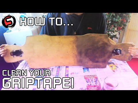 How To... Clean Skateboard/Longboard Griptape