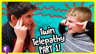 TWIN TELEPATHY CHALLENGE Part 1! Funny Surprises for LOSERS with HobbyKidsTV
