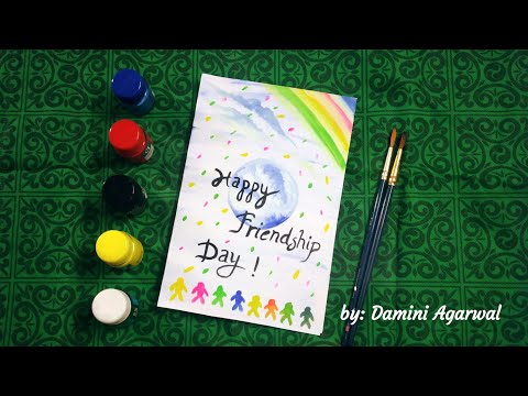 Friendship Day Card Making | Easy Card for Friends | Card Making Ideas