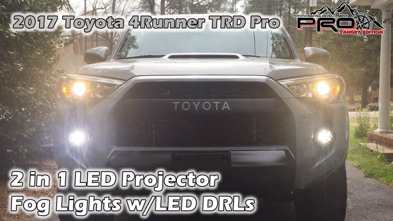 2017 Toyota 4runner >> 2017 4Runner, 2 in 1 LED Fog Lights with DRLs - YouTube
