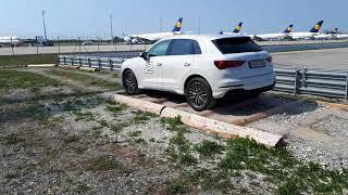 Audi Q3 2018. offroad experience. Keep the ball in the bowl...
