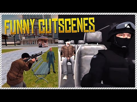 The Best Grand Theft Auto Cutscene (Funny Mobile Game Grand Crime Gangster Auto City)