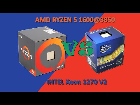 Intel Xeon 1270 V2 Vs AMD Ryzen 5 1600@3850 Perfomance Test (NVIDIA GTX 1060 6G)