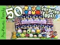 50 Tsum Tsum Chocolate Surprise Eggs! Japanese Toys Disney Pixar Princesses My Kawaii Family