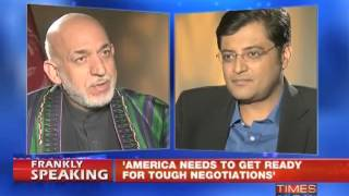 Hamid Karzai on Frankly speaking with Arnab Goswami - Part 1 of 2