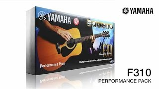 yamaha f310 acoustic guitar performance pack overview