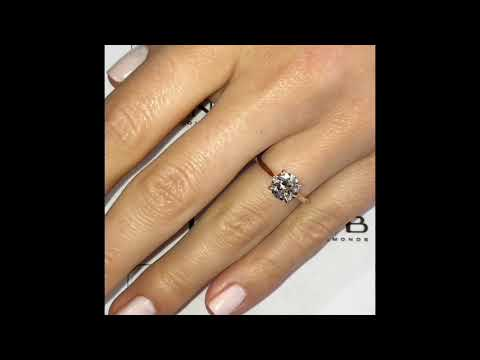 1.40 Ct Round Diamond Rose Gold Solitaire Engagement Ring