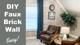 DIY Faux Brick Wall in 3 Easy Steps!