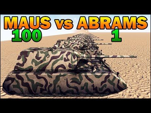 100 MAUS vs 1 ABRAMS - WW2 TANK vs MODERN TANK - Call to Arms - Scenario #4 |