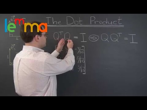 Linear Algebra 20j: The Dot Product, Matrix Multiplication, and the Magic of Orthogonal Matrices