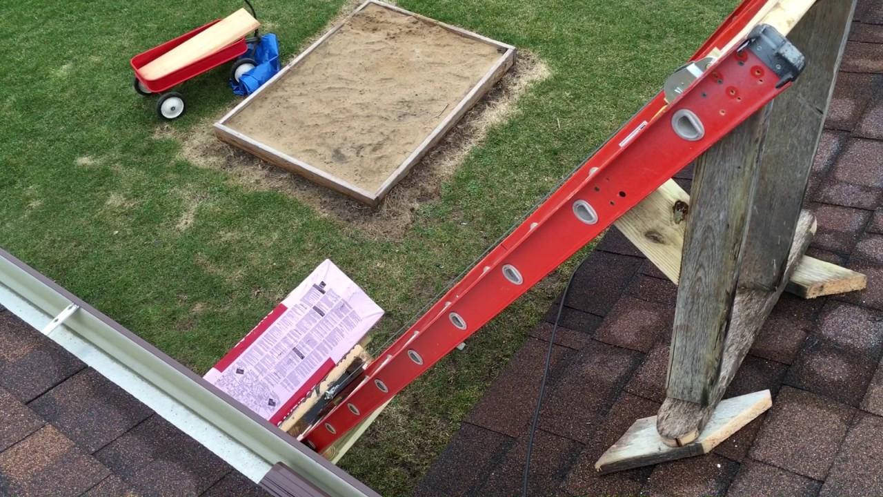 Homemade Shingle ladder hoist