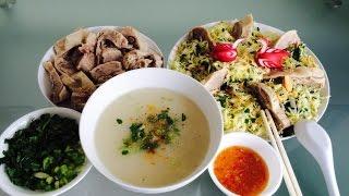 Gỏi Cháo Vịt   Vietnamese Duck Rice Porridge And Cabbage Salad