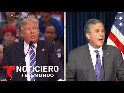 Donald Trump culpa a George W. Bush de los inmigrantes   Noticiero   Noticias Telemundo