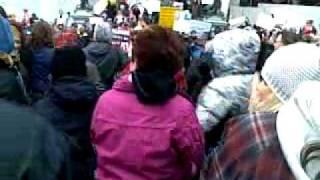 Berger Blanc Demonstration - Montreal City Hall April 23 2011