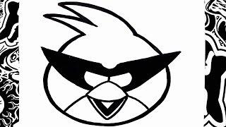 Como dibujar al pajaro rojo de angry birds space